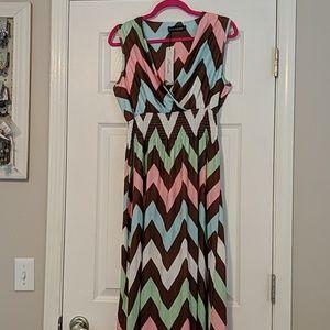 NWT Chevron Maxi Dress XXL